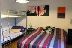 Dormitorio matrimonio con litera
